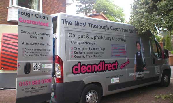Carpet Cleaning Van in Neston